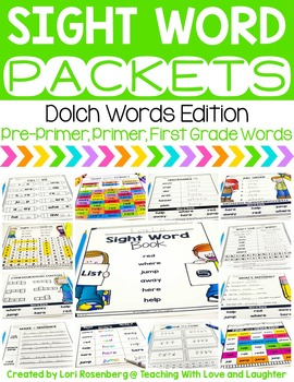 Sight Word Packets {Pre-Primer, Primer, and First Grade Do