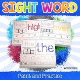 Sight Word Activities, Sight Word Paint and Practice