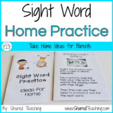 Sight Word Practice for Home ~ Editable