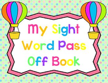 Sight Word Pass Off Book