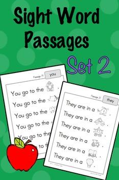 Sight Word Fluency Passages - Set 2