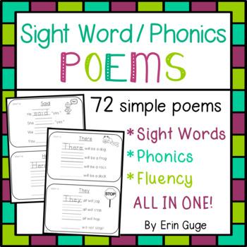 Sight Word / Phonics Poems