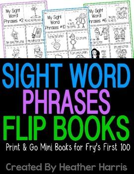 Sight Word Phrases Mini Fluency Books