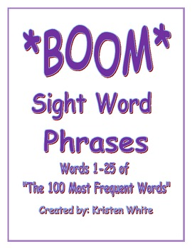 Sight Word Phrases words 1-25