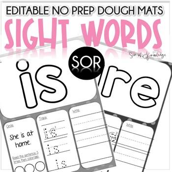 Sight Word Doh Mats