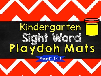 Sight Word Play Doh Mats {Kindergarten Review}