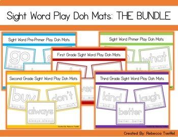 Sight Word Play Doh Mats: The Bundle