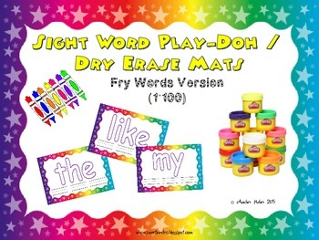 Sight Word Play-Doh or Dry Erase Mats