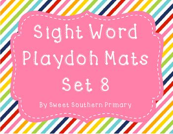 Sight Word Playdoh Mat Set 8