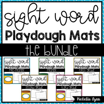Sight Word Playdough Mats - The Bundle (All 220 Dolch Words)
