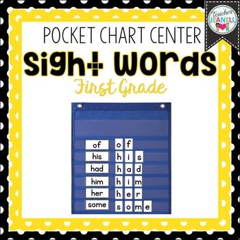 Sight Word Pocket Chart Center (First Grade)