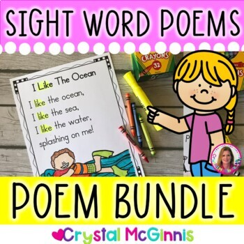 GROWING BUNDLE Sight Word Poems for Shared Reading  (For B