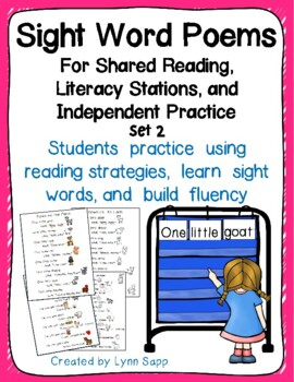 Sight Word Poems for Shared Reading and Literacy Stations Set 2