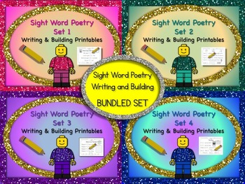Sight Word Poetry Writing and Building with  Fry Words 1-1