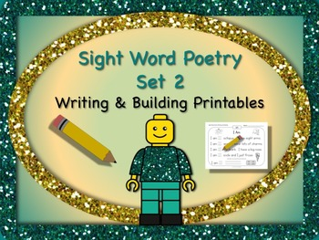 Sight Word Poetry Writing and Building with  Fry Words 26
