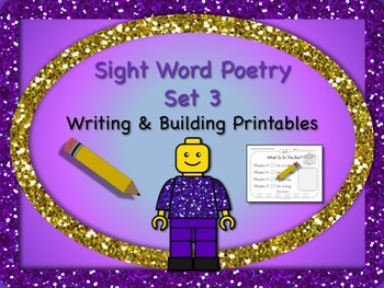 Sight Word Poetry Writing and Building with  Fry Words 51