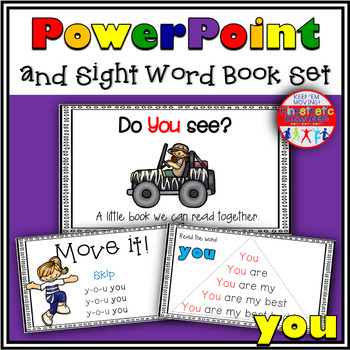 Sight Word Activity - PowerPoint for the word YOU