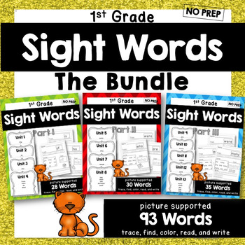 BUNDLE -- 1st Grade Sight Word Practice