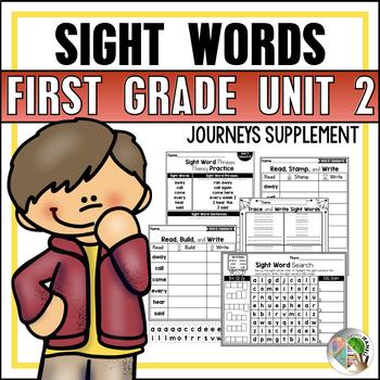 Journeys Sight Word Practice First Grade Unit 2
