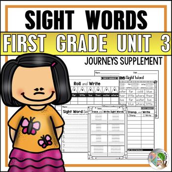 Journeys Sight Word Practice First Grade Unit 3