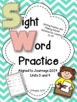 Sight Word Read, Trace and Build