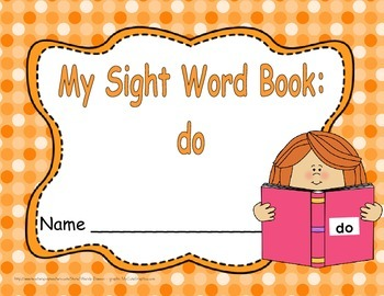 """Sight Word Practice Book and Emergent Reader - """"do"""""""