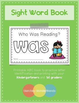 Sight Word Practice Books [was]