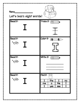 Sight Word Practice Bundle