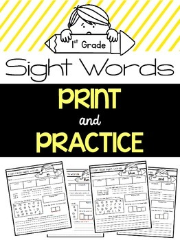 Sight Word Practice {1st Grade Dolch Words}