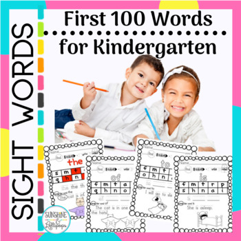 Sight Word Practice Fun First 100 Fry Sight Words  for K-1
