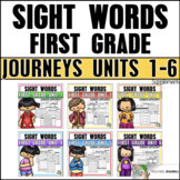 Sight Word Practice First Grade Units 1-6: BUNDLE