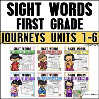 Journeys Sight Word Practice First Grade Units 1-6: BUNDLE
