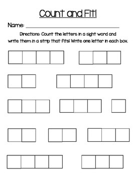 Sight Word Practice LIteracy Station