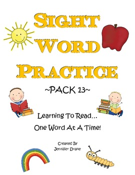 Sight Word Practice- Pack 13