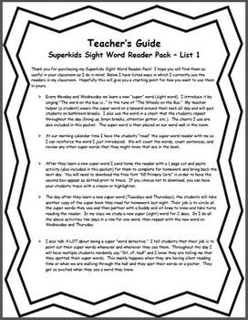 Sight Word Reader Pack!