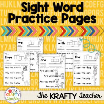 Sight Word Practice Pack - Kindergarten Wonders, read, wri