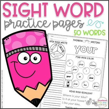 Sight Word Practice Pages