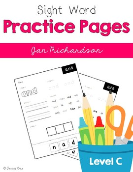 Sight Word Practice Pages Level C