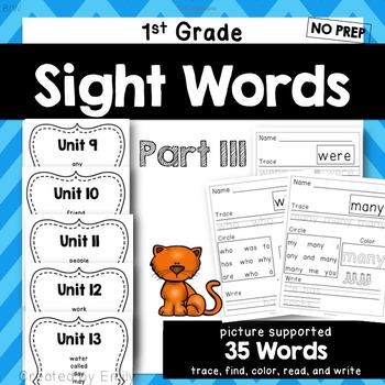 1st Grade Sight Word Practice Part III