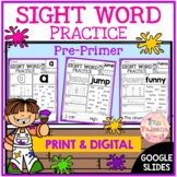 Sight Word Practice (Pre-Primer)