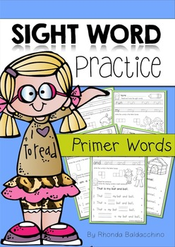 Sight Word Practice ~ Primer Words