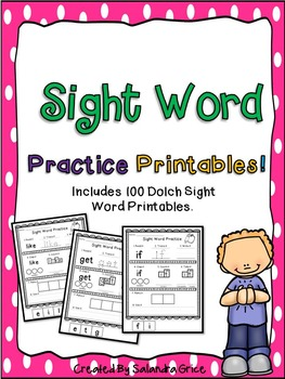 Sight Word Practice Printables