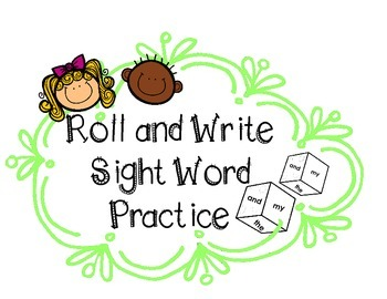Sight Word Practice Roll-&-Write Graph FREEBIE | Dolch Pre