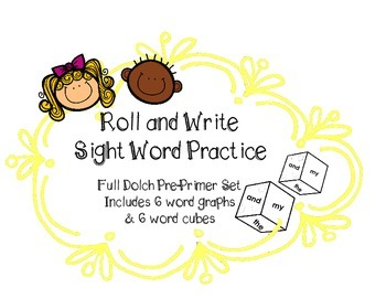 Sight Word Practice Roll & Write Graph | Set of 6 for Dolc