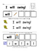 Sight Word Practice Set, 12 Pages of Activities for Can, S