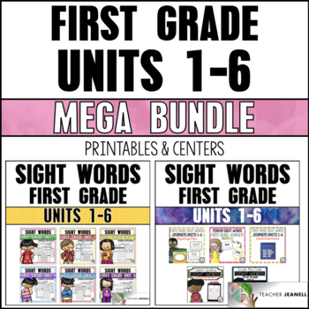 Sight Word Practice Sheets & Activities First Grade Units