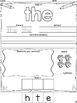 Sight Word Practice Sheets for First Grade {Saxon Phonics}