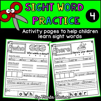 Sight Word Practice - Vol. 4