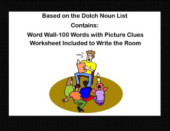 Sight Word Practice With Picture Clues-A Word Wall and Wri