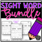 Sight Word Practice for Kindergarten Bundle Packs 1-3
